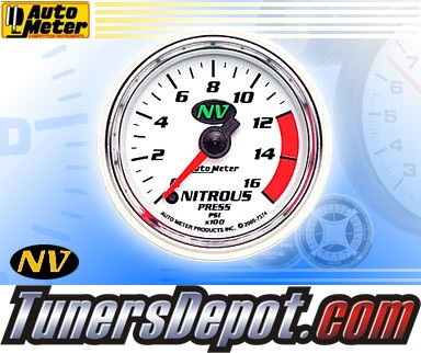 Autometer® 2-1/16&quto; NV Gauge - Nitrous Pressure (Electric) : 1600 PSI