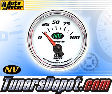 Autometer® 2-1/16&quto; NV Gauge - Oil Pressure (Short Sweep Electric) : 100 PSI