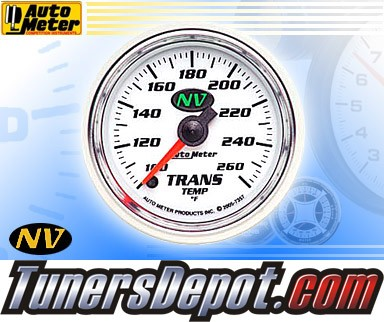 Autometer® 2-1/16&quto; NV Gauge - Transmission Temp (Electric) : 100-260 F