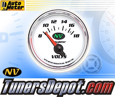 Autometer® 2-1/16&quto; NV Gauge - Voltmeter (Short Sweep Electric) : 8-18 V