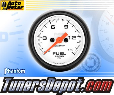 Autometer® 2-1/16&quto; PHANTOM Gauge - Fuel Pressure (Electric) : 15 PSI