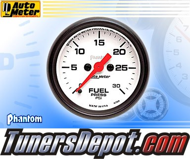 Autometer® 2-1/16&quto; PHANTOM Gauge - Fuel Pressure (Electric) : 30 PSI