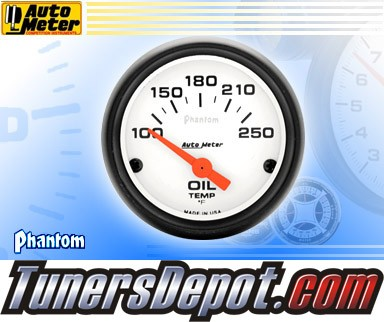 Autometer® 2-1/16&quto; PHANTOM Gauge - Oil Temp (Short Sweep Electric) : 100-250 F