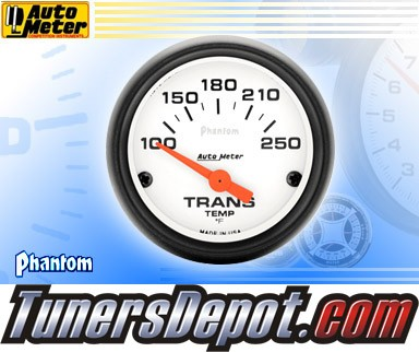 Autometer® 2-1/16&quto; PHANTOM Gauge - Transmission Temp (Short Sweep Electric) : 100-250 F