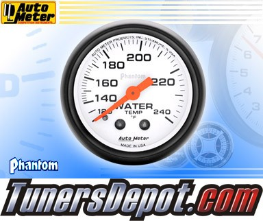 Autometer® 2-1/16&quto; PHANTOM Gauge - Water Temp (Mechancial) : 120-240 F