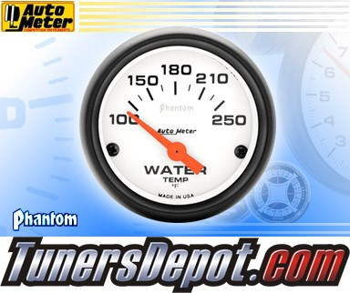 Autometer® 2-1/16&quto; PHANTOM Gauge - Water Temp (Short Sweep Electric) : 100-250 F