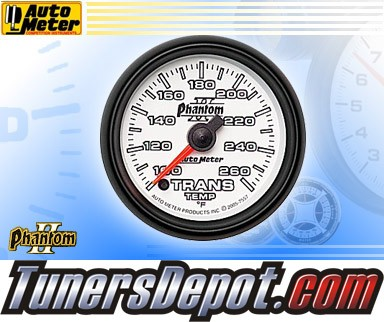 Autometer® 2-1/16&quto; PHANTOM II Gauge - Transmission Temp (Electric) : 100-260 F