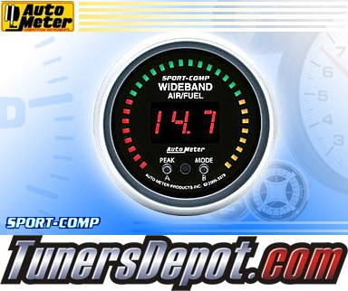 Autometer® 2-1/16&quto; SPORT-COMP Gauge - Air Fuel Ratio (Wideband) (Digital) : Lean - Rich
