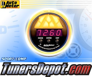 Autometer® 2-1/16&quto; SPORT-COMP Gauge - Digital Pro Shift Lv. 2 : 10K RPM