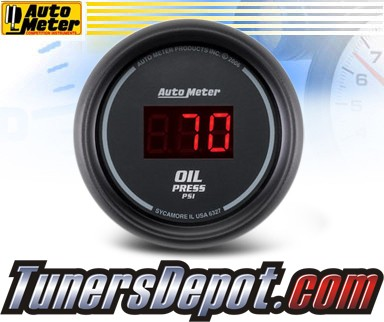 Autometer® 2-1/16&quto; SPORT-COMP Gauge - Oil Pressure (Digital) : 100 PSI