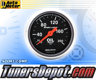 Autometer® 2-1/16&quto; SPORT-COMP Gauge - Oil Pressure (Mechanical) : 200 PSI