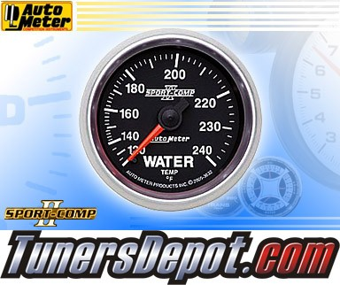 Autometer® 2-1/16&quto; SPORT-COMP II Gauge - Water Temp (Mechancial) : 120-240 F
