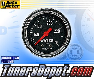 Autometer® 2-1/16&quto; TRADITIONAL CHROME Gauge - Water Temp (Mechancial) : 120-240 F