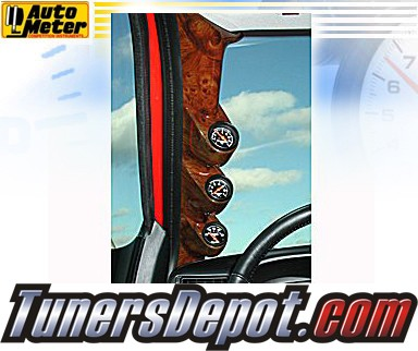 Autometer® 2-1/16&quto; Triple Pillar Pod - 99-02 Ford F-350 F350 (Wood Grain)