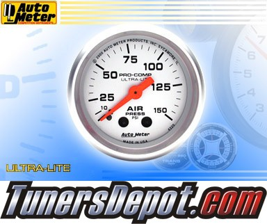 Autometer® 2-1/16&quto; ULTRA-LITE Gauge - Air Pressure (Mechanical) : 150 PSI