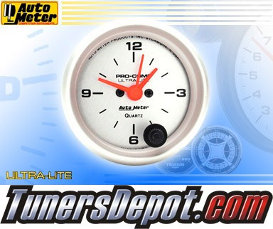 Autometer® 2-1/16&quto; ULTRA-LITE Gauge - Clock (Electric) : Hour / Minute / Second