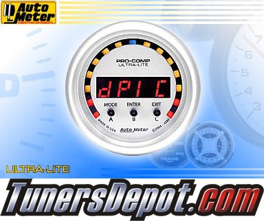 Autometer® 2-1/16&quto; ULTRA-LITE Gauge - DPIC Acceleration (Electric) : -2G - +2G 10K