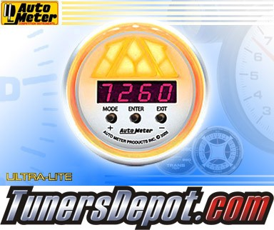 Autometer® 2-1/16&quto; ULTRA-LITE Gauge - Digital Pro Shift Lv. 3 : 10K RPM