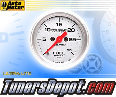 Autometer® 2-1/16&quto; ULTRA-LITE Gauge - Fuel Pressure (Electric) : 30 PSI