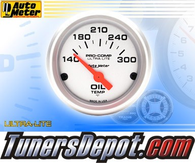 Autometer® 2-1/16&quto; ULTRA-LITE Gauge - Oil Temp (Short Sweep Electric) : 140-300 F