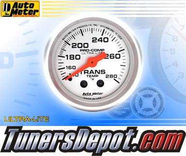 Autometer® 2-1/16&quto; ULTRA-LITE Gauge - Transmission Temp (Mechanical) : 140-280 F