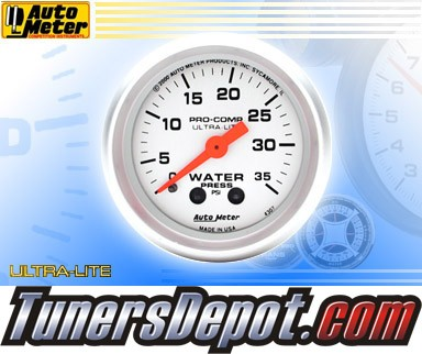 Autometer® 2-1/16&quto; ULTRA-LITE Gauge - Water Pressure (Mechanical) : 35 PSI