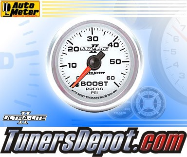 Autometer® 2-1/16&quto; ULTRA-LITE II Gauge - Boost Pressure (Mechanical) : 60 PSI
