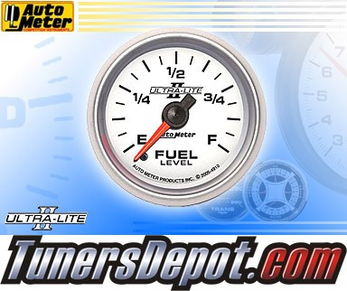 Autometer® 2-1/16&quto; ULTRA-LITE II Gauge - Fuel Level (Programmable) (Electric) : 0 Ohm - 280 Ohm