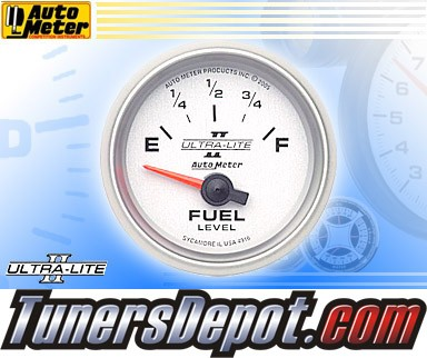 Autometer® 2-1/16&quto; ULTRA-LITE II Gauge - Fuel Level (Short Sweep Electric) : 240 Ohm - 33 Ohm