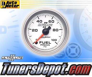 Autometer® 2-1/16&quto; ULTRA-LITE II Gauge - Fuel Pressure (Electric) : 100 PSI