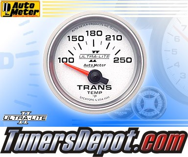 Autometer® 2-1/16&quto; ULTRA-LITE II Gauge - Transmission Temp (Short Sweep Electric) : 100-250 F
