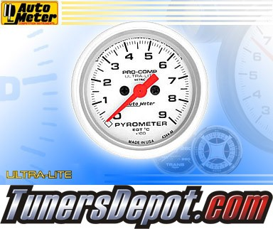 Autometer® 2-1/16&quto; ULTRA-LITE (Metric) Gauge - Exhaust Gas Temp (Electric) : 900 C