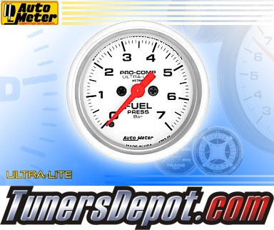 Autometer® 2-1/16&quto; ULTRA-LITE (Metric) Gauge - Fuel Pressure (Electric) : 7 BAR