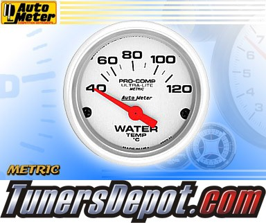 Autometer® 2-1/16&quto; ULTRA-LITE (Metric) Gauge - Water Temp (Short Sweep Electric) : 40-120 C