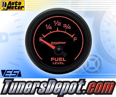 Autometer® 2-5/8&quto; ES Gauge - Fuel Level (Short Sweep Electric) : 240 Ohm - 33 Ohm