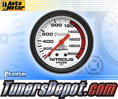 Autometer® 2-5/8&quto; PHANTOM Gauge - Nitrous Pressure (Mechanical) : 2000 PSI