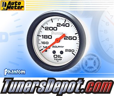 Autometer® 2-5/8&quto; PHANTOM Gauge - Oil Temp (Mechanical) : 140-280 F
