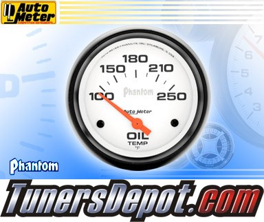 Autometer® 2-5/8&quto; PHANTOM Gauge - Oil Temp (Short Sweep Electric) : 100-250 F