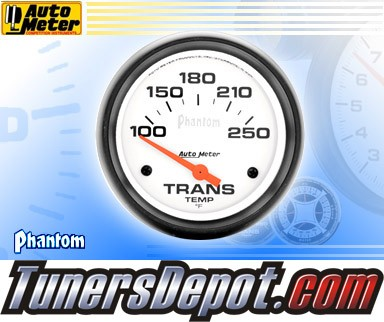 Autometer® 2-5/8&quto; PHANTOM Gauge - Transmission Temp (Short Sweep Electric) : 100-250 F