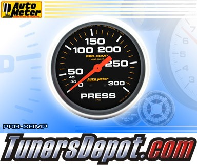 Autometer® 2-5/8&quto; PRO-COMP Gauge - Pressure (Mechanical) : 300 PSI