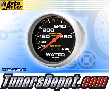 Autometer® 2-5/8&quto; PRO-COMP Gauge - Water Temp (Mechanical) : 140-280 F