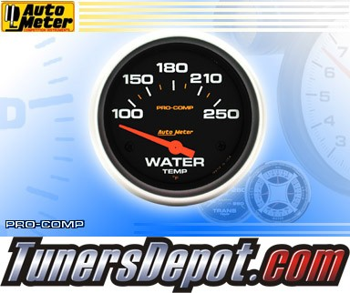 Autometer® 2-5/8&quto; PRO-COMP Gauge - Water Temp (Short Sweep Electric) : 100-250 F