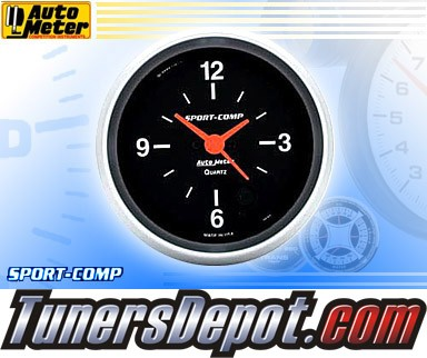 Autometer® 2-5/8&quto; SPORT COMP Gauge - Clock (Electric) : Hour / Minute / Second