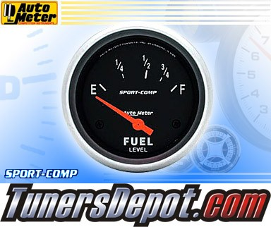 Autometer® 2-5/8&quto; SPORT COMP Gauge - Fuel Level (Short Sweep Electric) : 16 Ohm-158 Ohm