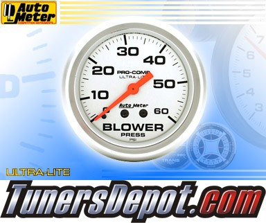 Autometer® 2-5/8&quto; ULTRA-LITE Gauge - Blower Pressure (Mechanical) : 60 PSI