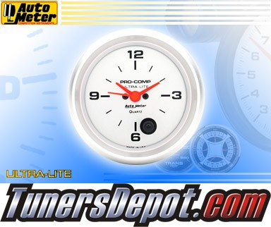 Autometer® 2-5/8&quto; ULTRA-LITE Gauge - Clock (Electric) : Hour / Minute / Second