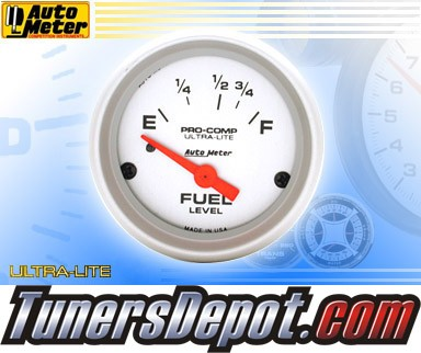 Autometer® 2-5/8&quto; ULTRA-LITE Gauge - Fuel Level (Short Sweep Electric) : 16 Ohm-158 Ohm