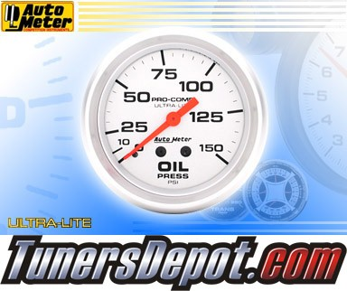 Autometer® 2-5/8&quto; ULTRA-LITE Gauge - Oil Pressure (Mechanical) : 150 PSI