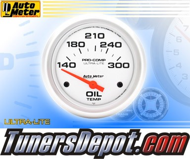 Autometer® 2-5/8&quto; ULTRA-LITE Gauge - Oil Temp (Short Sweep Electric) : 140-300 F