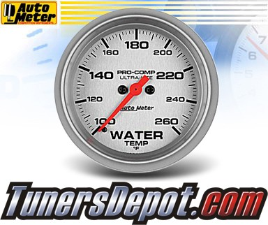 Autometer® 2-5/8&quto; ULTRA-LITE Gauge - Water Temp (Electric) : 100-260 F